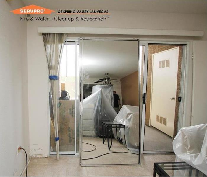 Commercial Apartments water cleanup, Las Vegas Before